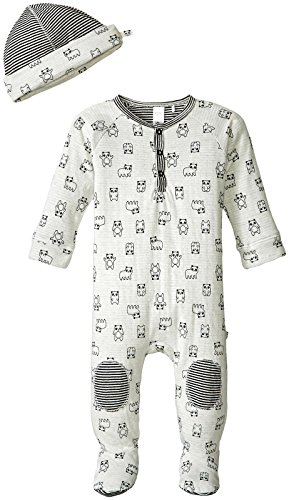 Petit Lem Baby Boys' Panda 2 Piece Set Sleeper and Hat Knit, Beige, 9 Months ()