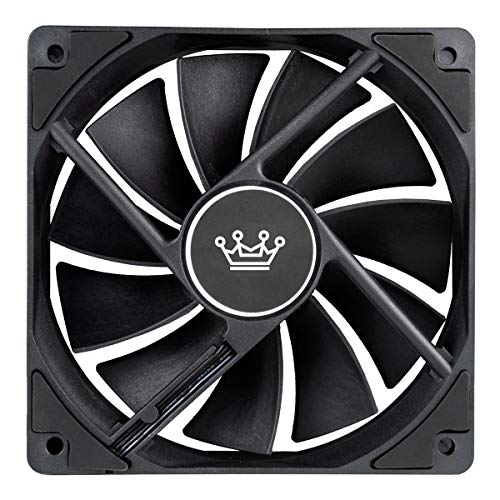 CUK 7-Pack 120mm Black Non-LED Computer Case Fan for Desktops, CPU Coolers and Radiators - High Airflow 62 CFM