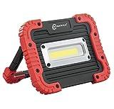 Parts Flix Ultra Bright Spotlight Rechargeable Portable LED Work Light,Outdoor Waterproof Flood Lights (PF-W5112-R)