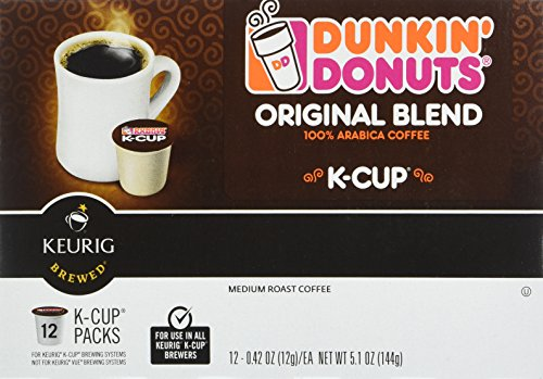 Dunkin Donuts K-Cups Original Flavor - Box of 12 Kcups for use in Keurig Coffee Brewers 5.1oz
