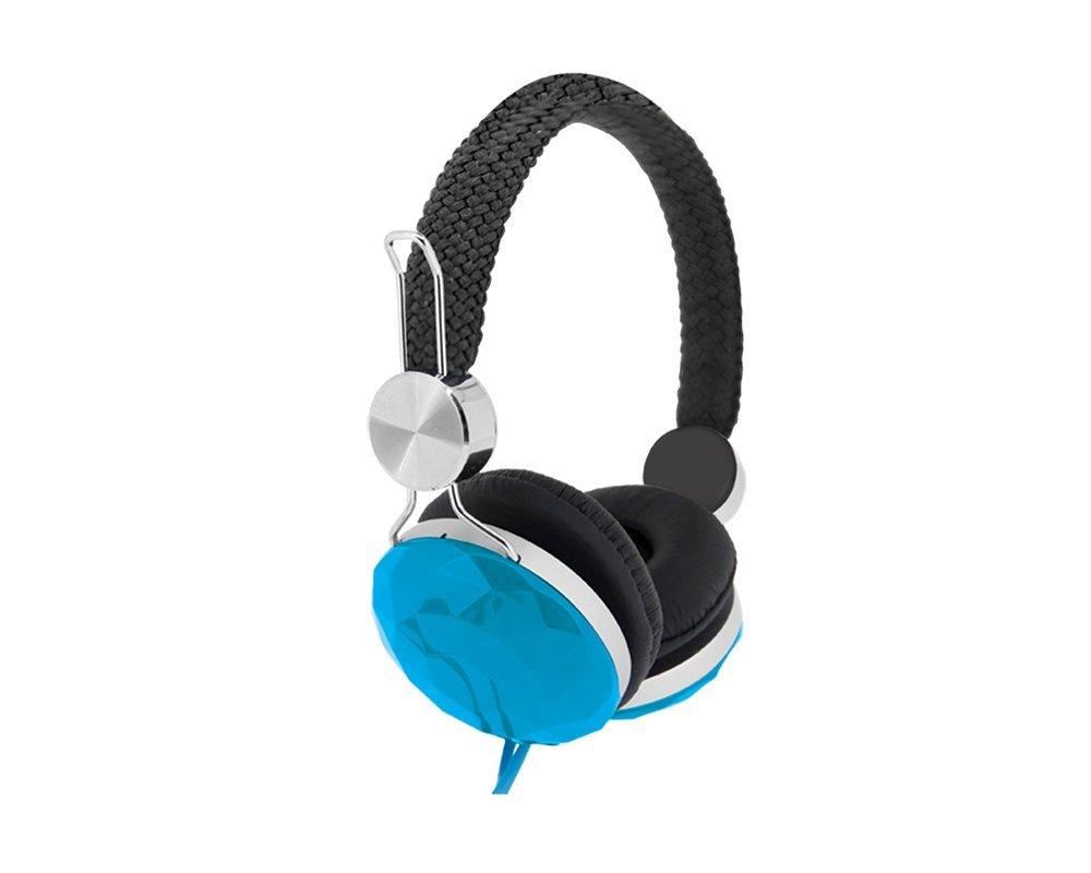 9b7ac68beb6 Amazon.com: Bytech 3.5mm Stereo DJ Style Headset (Diamond Blue): Cell  Phones & Accessories