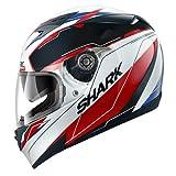 Shark S700 Lab Helmet (White/Black/Red, Medium)