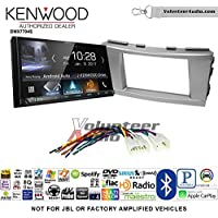 Volunteer Audio Kenwood DMX7704S Double Din Radio Install Kit with Apple CarPlay Android Auto Bluetooth Fits 2007-2011 Non Amplified Toyota Camry (Silver)