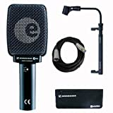 Sennheiser e 906 Dynamic Cardioid Instrument Microphone Package - Audix Cab Grabber and Cable