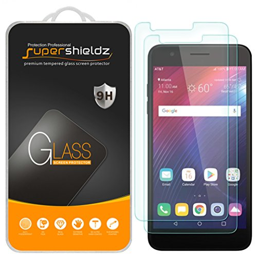 [2-Pack] Supershieldz for LG Phoenix Plus Tempered Glass Screen Protector, Anti-Scratch, Bubble Free, Lifetime Replacement Warranty