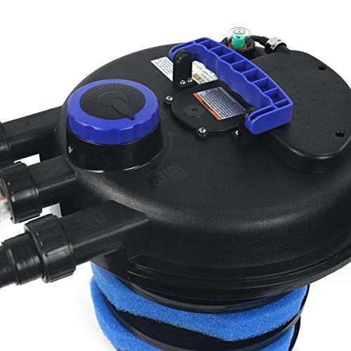 Xtremepowerus 10000 koi pond pressure bio filter uv sterilizer for Pond bio filter with uv