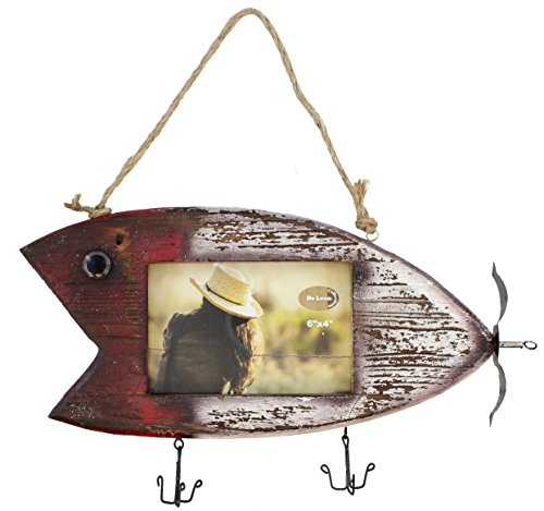 Rustic Fishing Lure Barnwood Picture Frame 4