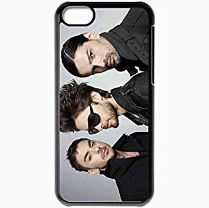 Personalized iPhone 5C Cell phone Case/Cover Skin 30 Seconds To Mars Group Photo Set Hair Glasses Black