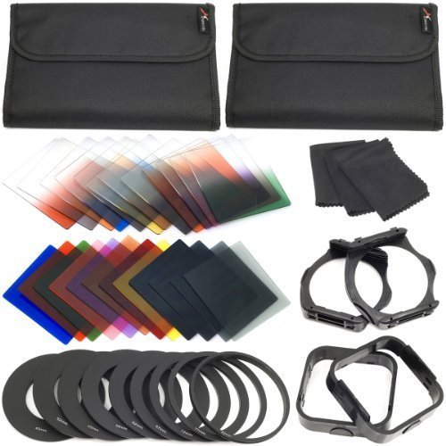 XCSOURCE Complete Square Kit Filter for Cokin P Series Bundle with Filter Holder and Lens Hood LF141 (16 Items) from XCSOURCE