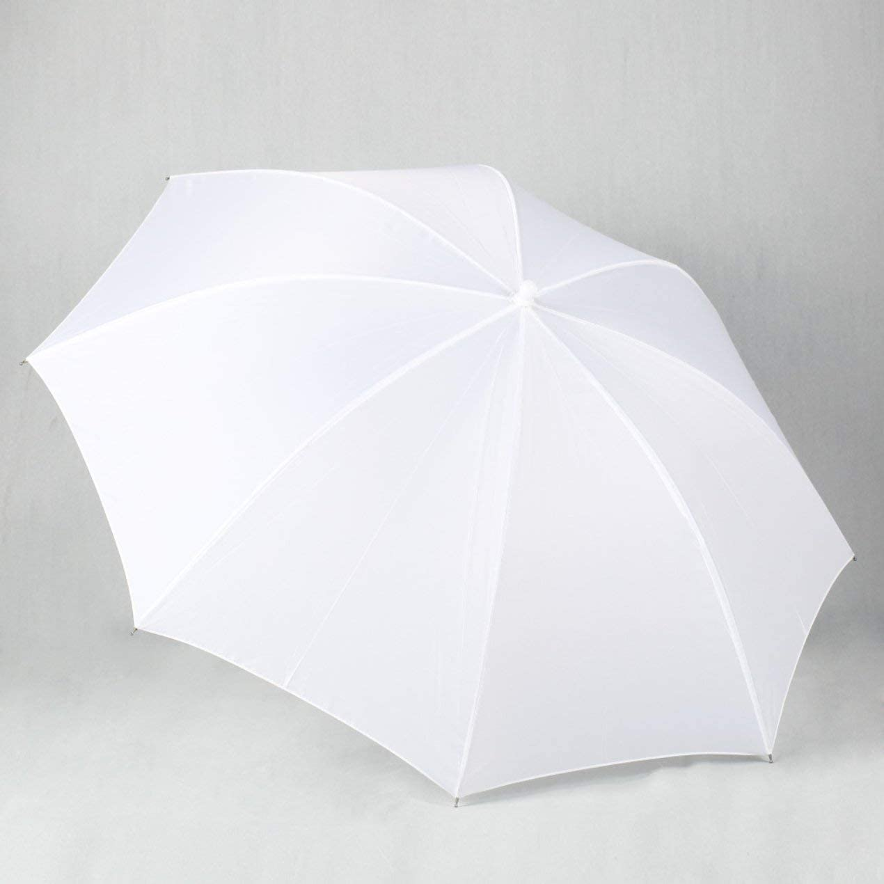 Jullynice Portable Lightweight 33in 83cm Pro Studio Photography Flash Translucent Soft Lambency Umbrella White Nylon Material Aluminum Shaft