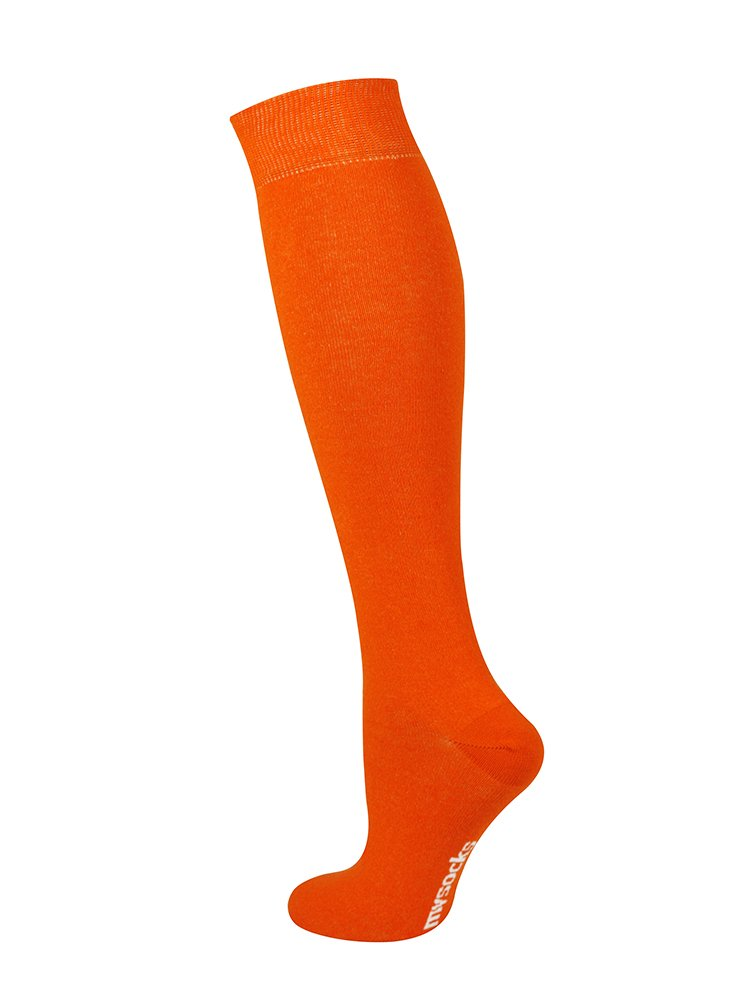 Mysocks Unisex Knee High Long Socks Orange,4-7 by MySocks (Image #3)