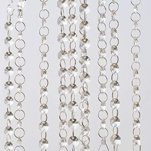 Eaglers Beaded Garland 5M (16.4) FT Crystal Hanging Beads Clear Acrylic Bead Garland Chandelier Hanging for Wedding Decoration Home Supplies from Eaglers