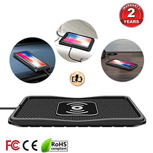 Wireless Charger car Wireless Charging pad qi 10W Quick Charger Thin Wireless car Charger Charging pad Wireless Phone Charger 7.5W/5W Wireless Charging Station Dock glaxys9 Charger s8 s6s7 note8(C3) by polmxs