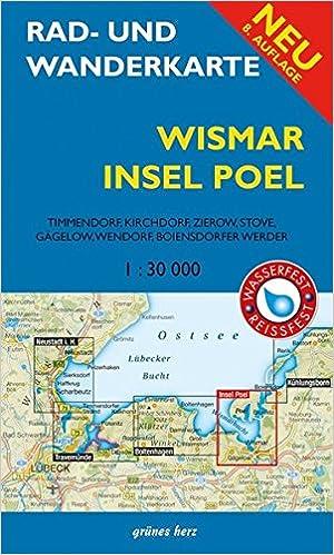 Karte Insel Poel Und Umgebung.Rad Und Wanderkarte Wismar Insel Poel Mit Timmendorf