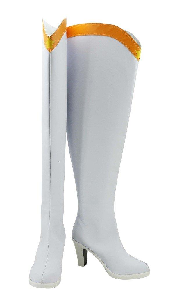 Sailor Moon Sailor Venus Minako Aino Cosplay Shoes Boots Custom Made White