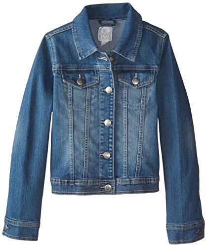 The Children's Place Big Girls' Denim Jacket, Dark Stone, Medium/7-8