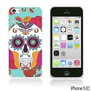 OnlineBestDigitalTM - Flower Pattern Hardback Case for Apple iPhone 5C - Red Rose With Skull
