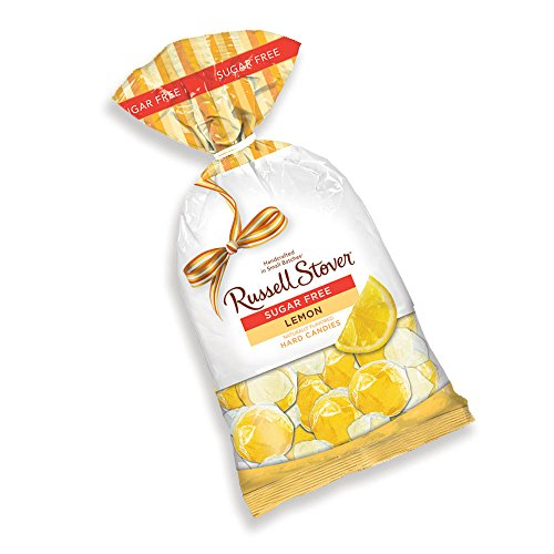Russell Stover Sugar-Free Lemon Wedges Hard Candies, 12 Ounce Bag, Individually Wrapped Sugar-Free Lemon Hard Candy Sweetened with (Any Occasion Sugar Free Candy)