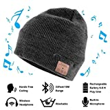 Vichannel 4.1 Bluetooth Beanie Hat Running Headphones Wireless Musical Knit Cap with Stereo Headsets & Mic Unique Christmas Tech gifts Winter hat for Women, Men, Boys and Girls (Gray)