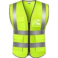 Chaleco de Seguridad Fluorescente, Chaleco Reflectante de Seguridad, Alta Visibilidad Chaleco Reflectante de Seguridad…