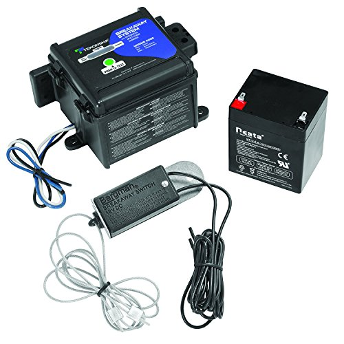 (Tekonsha 50-85-325 Shur-Set III Breakaway System with LED Test Meter, Battery, Switch and Charger)