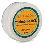 LiftMode Yohimbine HCl Powder 98% Pure - 1 Gram Sample (400 Servings at 2.5 mg)   #Top Libido Bulk Supplement   For Men & Women, Fat Burner, Male & Female Power Powdered Yohimbe Bark Extract, Vegan