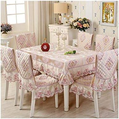 Silla de comedor, juego de cojines, funda de silla, ropa de cama de tela de mesa de cuatro estaciones de lino europeo, mantel de tela de mesa mantel@Mantel 150 * 200cm +
