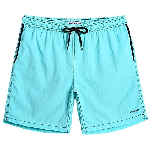 - MaaMgic Mens Quick Dry Printed Short Swim Trunks with Mesh Lining Swimwear Bathing Suits Arctic Blue