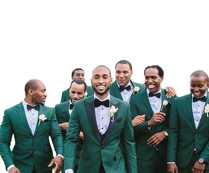 Amazon.com: Traje de boda para hombre, color verde, 2 piezas ...