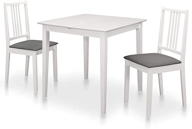 mesa y silla blancas vidaxl