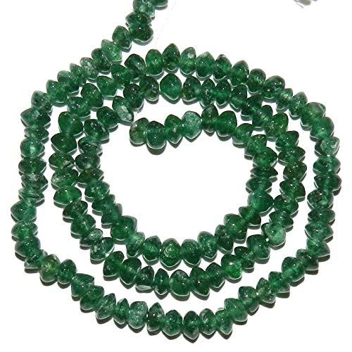 - Emerald Green Aventurine 3mm - 5mm Saucer Rondelle Gemstone Beads 14#ID-4833
