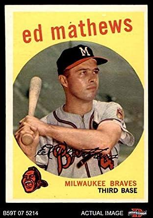 Amazoncom 1959 Topps 450 Eddie Mathews Milwaukee Braves