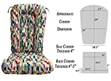 Glider Rocker Replacement Cushion Set, Lipstick Tapestry Fabric