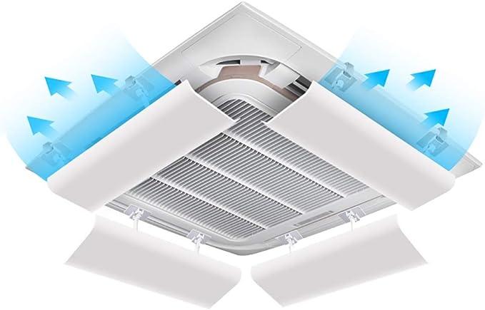 Deflector De Viento Universal para Aire Acondicionado, Deflector De Parabrisas Ajustable Anti Direccional Ajustable para Oficina/Hospital/Hotel, Paquete de 4 (Size : 40CM): Amazon.es: Hogar