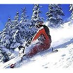 SYXX-Motoslitte-for-Bambini-Non-Alimentato-Scooter-On-Ice-Freni-e-sterzo-Scooter-slitte-Inverno-attivita-allaperto-motoslitte-Scooter-motoslitte-Sci-Hotel-Snow-Park-Cars-Principianti-Sci