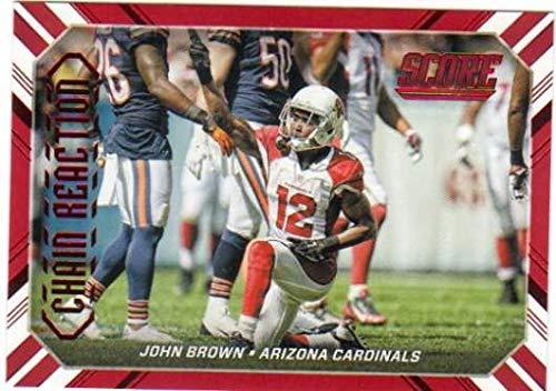 - 2016 Score Chain Reaction Red #5 John Brown Cardinals Football Card NM-MT