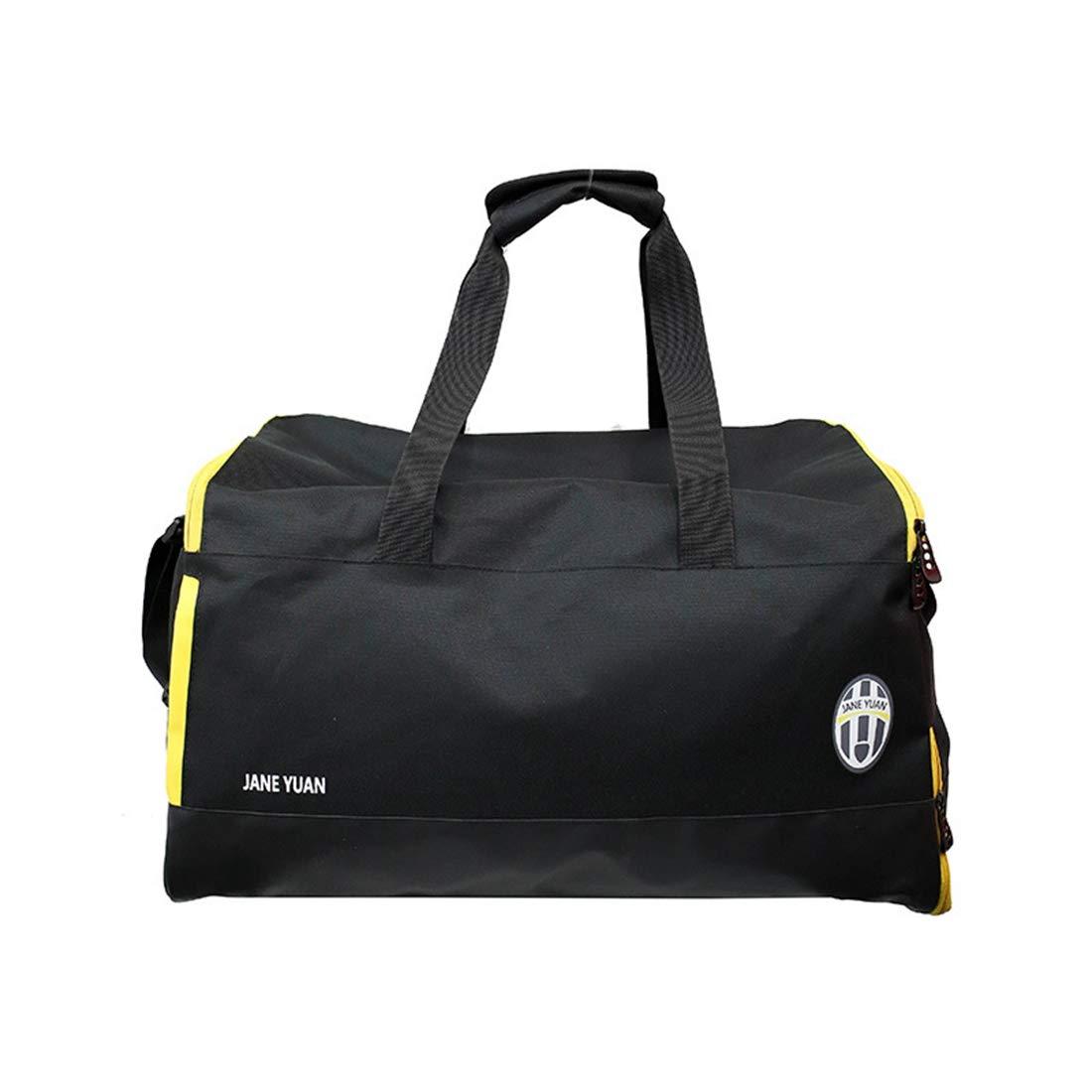 RABILTY Short Trip Package Female Hand-held Gym Bag Sports Bag Waterproof Shoulder Bag Large Capacity Bag Color : Black