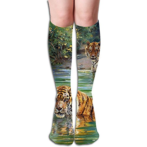 Tube High Keen Sock Boots Crew Jungle Tiger Socks Compression Long Sport Stockings For Men Women by Curitis