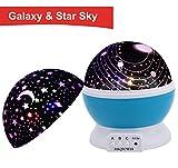 Sternenhimmel Projektor,MKQPOWER Sterne-Beleuchtungslampe 4 LED-Korne 362 Grad Romantik Zimmer...