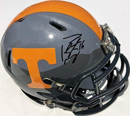 - Peyton Manning #16 Autographed Signed Memorabilia Tennessee Volunteers Football Mini Helmet With - JSA Authentic