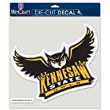 NCAA Kennesaw State University Perfect Cut Color Decal, 8'' x 8''