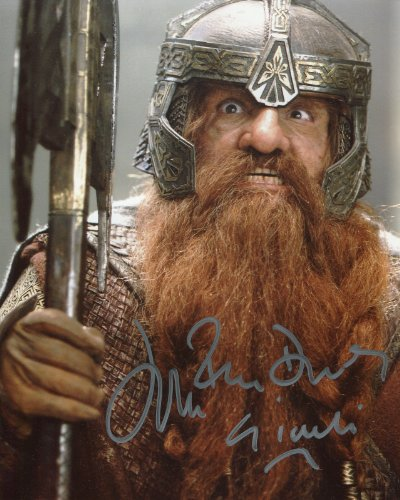 John Rhys Davies Signed / Autographed Lord of the Rings, Gimli 8x10 Glossy Photo. Includes Fanexpo Fanexpo Certificate of Authenticity and Proof. Entertainment Autograph Original. -  Star League Sports