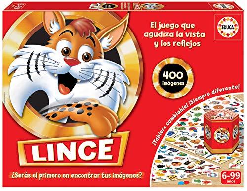 Educa- Lince-Edicion Familia Juego de Mesa, Multicolor, 400 imagenes (16146)
