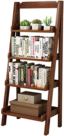 Wujiancheng-apparel Living Room Librerías Las Escalas de estanterías Estantes 4-Tier Escalera apoyable Bookcase Display para Sala de Estar Dormitorio (Color : Brown, Size : 140x60x36cm): Amazon.es: Hogar
