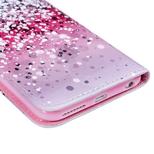 Mavis's Diary Coque iPhone 6 Plus / 6S Plus (5.5'') Silicone Coque iPhone 6 Plus / 6S Plus Transparent Étui Housse de Protection PU et TPU Coque Antichoc Antirayure Flocon de Neige Ultra Mince Léger S