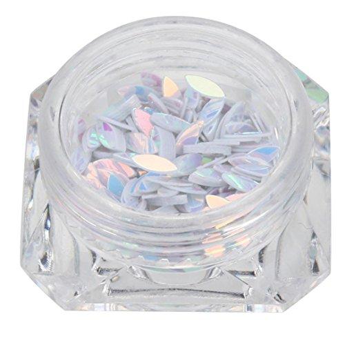 Price comparison product image Sharemen Colorful Nail Art Decoration Nail Art Rhinestone (White)