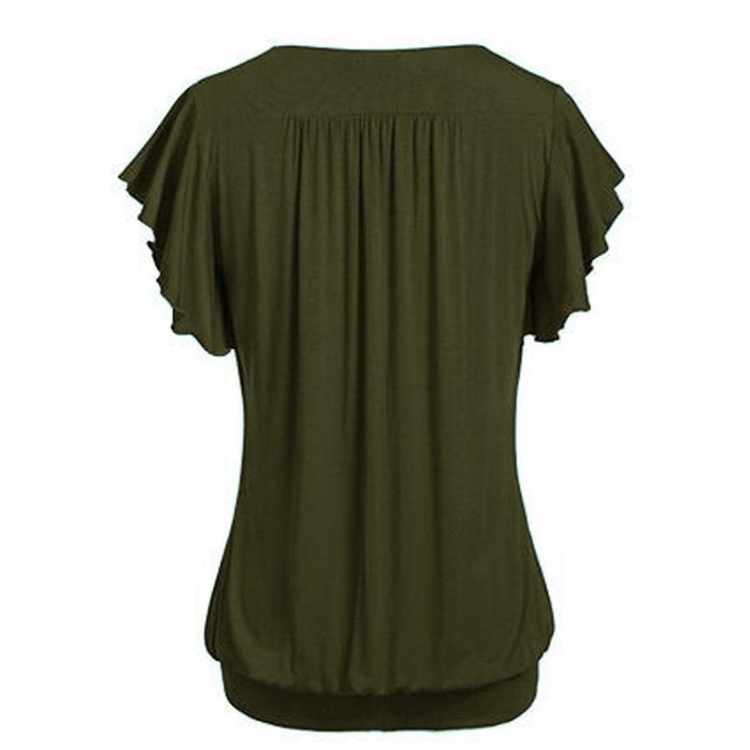 Amazon.com: Plus Size Blouse for Womens, FORUU Pleated Swing Tunic Solid V Neck T Shirts Tee: Clothing