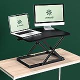Zinus Smart Adjust Standing Desk / Height Adjustable Desktop Workstation / 28in x 21in / Black