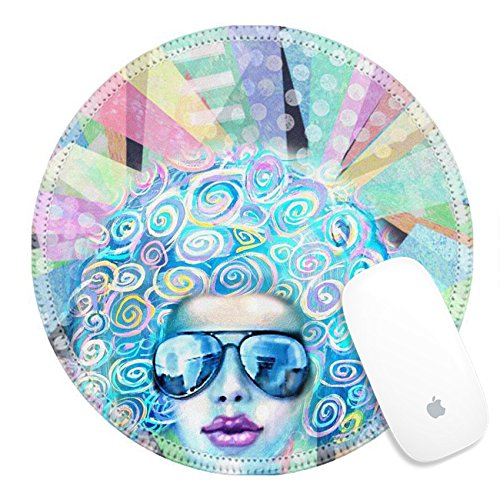 Luxlady Round Gaming Mousepad ID: 43578647 Pop art design Nightflyer discotheque Party invitation Summer saturday lounge retro night Disco club girl in sunglasses standing on a reflective dance - Funk Sunglasses Price