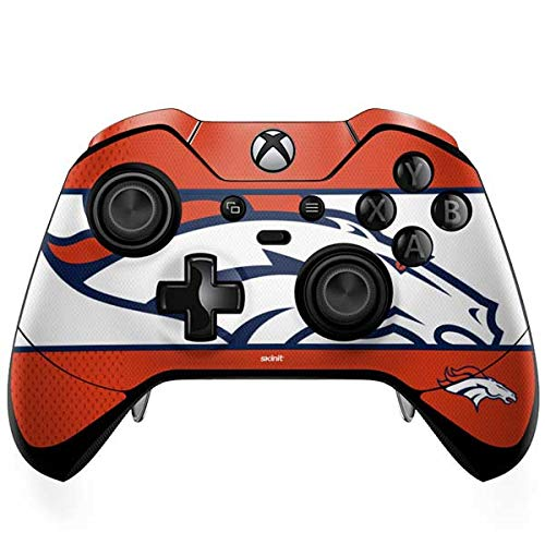 Skinit Denver Broncos Zone Block Xbox One Elite Controller Skin - Officially Licensed NFL Gaming Decal - Ultra Thin, Lightweight Vinyl Decal Protection